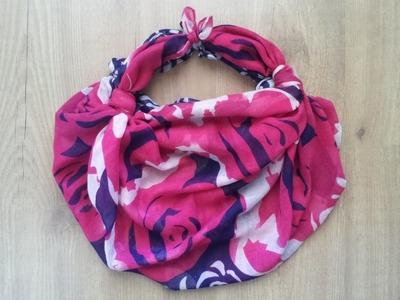 Cómo hacer un bolso con un pañuelo sin coser DIY | facilisimo.com