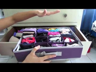 Cómo organizar ropa interior::MINI-TIPS::