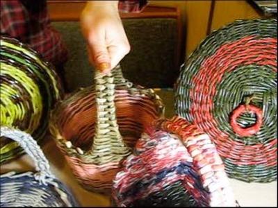 Como se tejen agarraderos para una cesta. Parte 1.