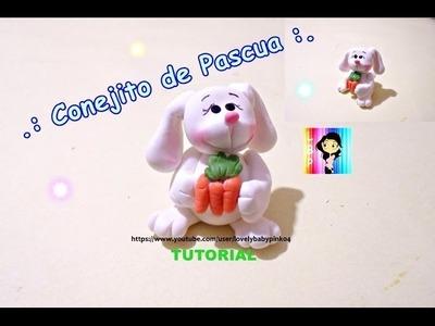 CONEJITO MANUALIDADES FACILES - Figuras en porcelana fria - pasta flexible- fimo- biscuit