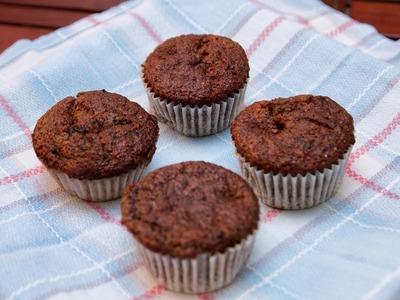 Cupcakes de Platano Nueces y Chocolate
