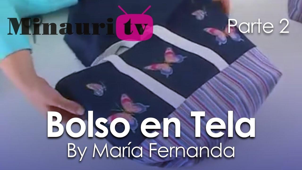 DIY - Bolso en Tela By María Fernanda (B2.2)( Hand made Tote. Bags. Purses. Handbags. Wallet )