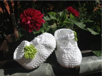 Escarpínes de bebe con correa en crochet - Instrucción zapatitos de BerlinCrochet - Parte3, Correa