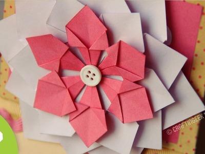 Flor Decorativa FACIL. Scrapbook & Origami