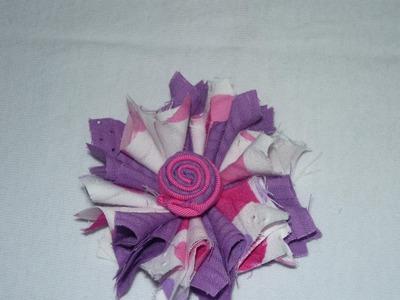 Flores con retazos de tela para accesorios paso a paso  No.059 Manualidadeslahormig