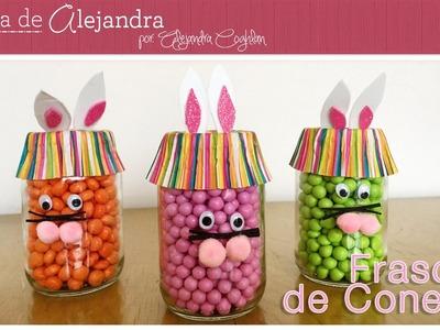 Frascos de conejitos para FIESTA DIY Alejandra Coghlan