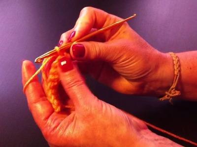 Ganchillo: Cómo hacer punto bajo - hacer el punto bajo con ganchillo