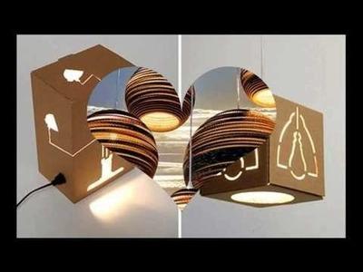 Ideas para el hogar: lámparas de cartón