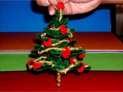 Manualidades Navideñas árbol colgante miniatura