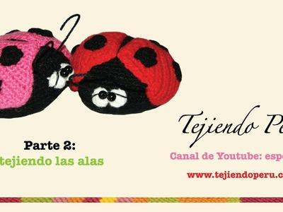 Mariquitas tejidas a crochet (amigurumi ladybugs) Parte 2: tejiendo las alas