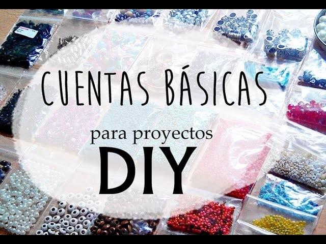 ❥ Materiales de bisutería   CUENTAS BÁSICAS para proyectos DIY