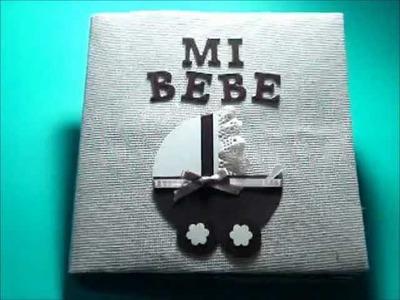 Mini abum scrapbook para bebé - Baby mini album scrapbook