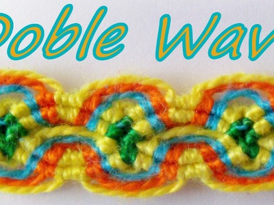 Pulsera de Hilo: Doble Wave