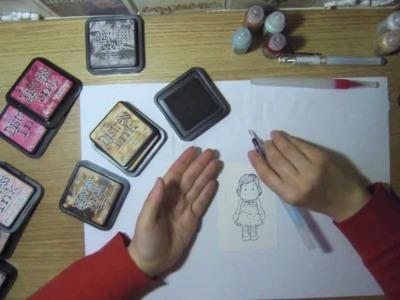 (Scrapbooking) Como colorear con tintas distress (1º parte)