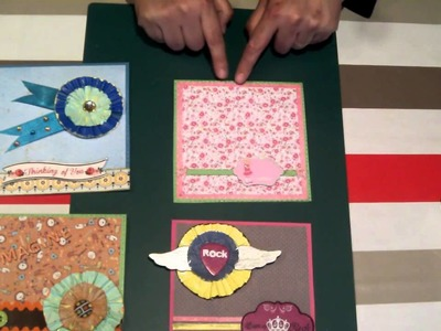 Scrapbooking tips: Cardmaking : Tarjetas fáciles y originales. tutorial scrapbook.