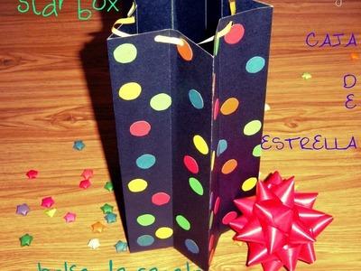 Star box. caja de estrellas. bolsa para regalo