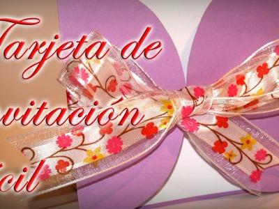 Tarjeta de invitación fácil. Comunión, Bodas, Bautizo - DIY - Easy invitation card
