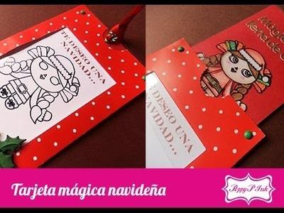 Tarjeta mágica de Navidad - Scrapbook, scrapbooking