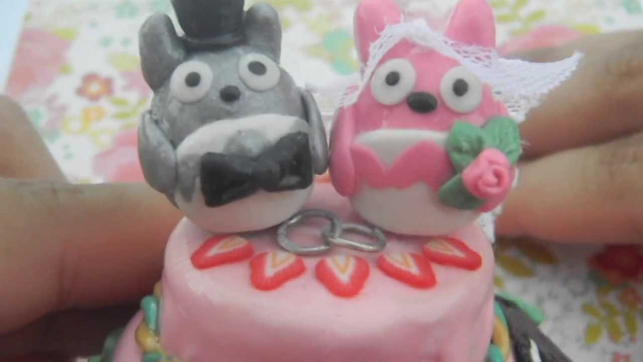 Totoro Theme Wedding Cake (Craft Contest.Polymer Clay)