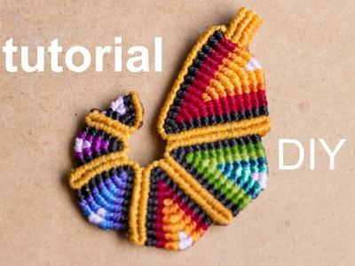 Tutorial colgante macramé arcoiriz | pendant rainbow macramé
