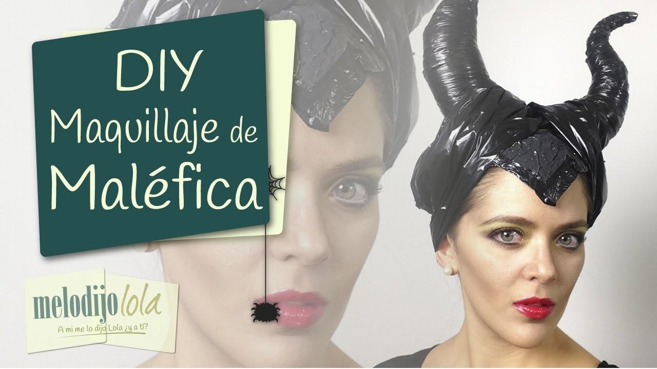 Tutorial Maléfica   Maquillaje de malefica   Maleficent Makeup   Halloween 2014 DIY