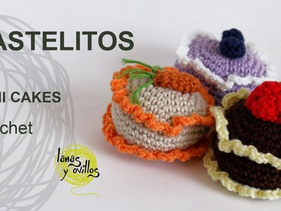 Tutorial Pastelitos Crochet  o Ganchillo Mini Cakes (English Subtitles)