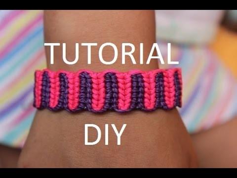 Tutorial pulsera macrame de dos colores | tutorial friendship bracelet