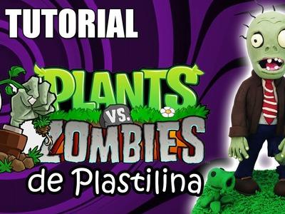 Tutorial Zombie (Plantas vs Zombies) de Plastilina