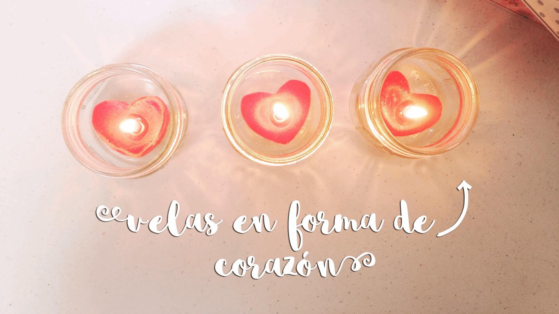 VELAS EN FORMA DE CORAZÓN ♥ ¡¡SIN MOLDES!!! ♥