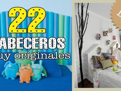 22 cabeceros de cama originales y caseros