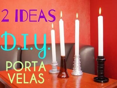 #9 DOS IDEAS PARA HACER PORTAVELAS RECICLADOS | D.I.Y. ♥