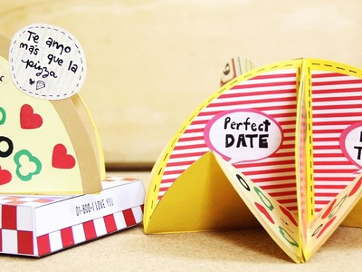 """Álbum de papel """"te amo como a la Pizza"""" - para enamorados (circular stand-up)"""