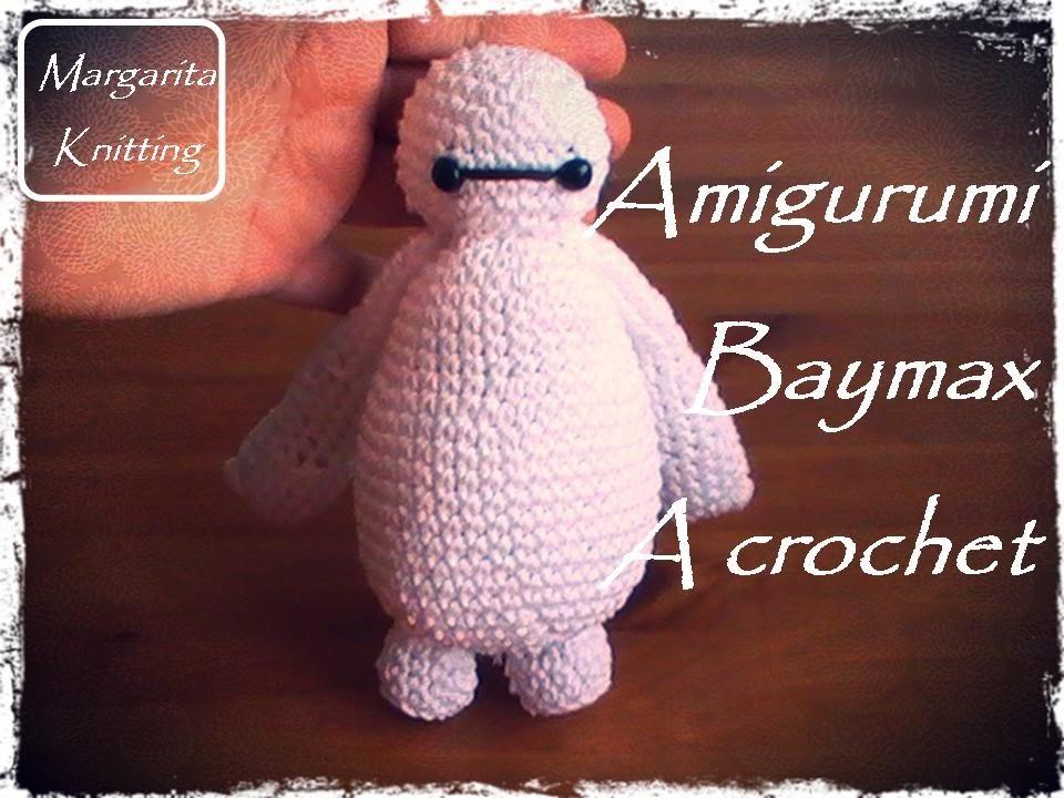 Amigurumi de Baymax a crochet (diestro)
