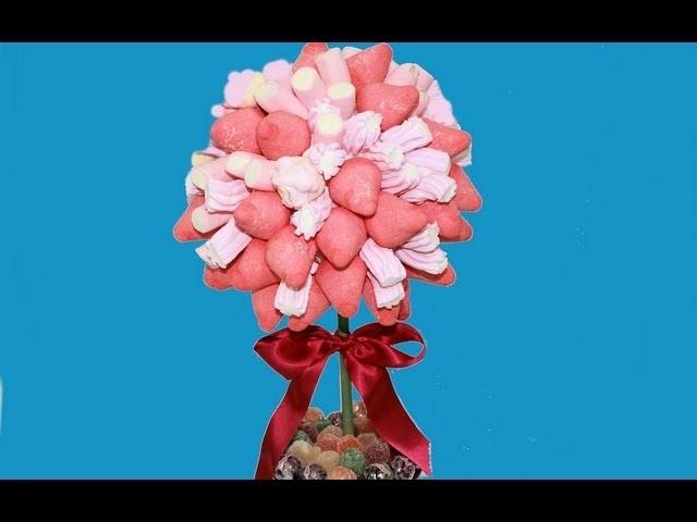 Arbolito de nubes o chuches. Sweet marshmallow tree