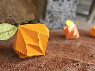 Calabazas de papel - Manualidades Halloween   Craftingeek