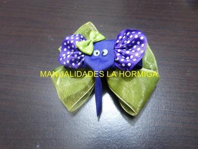 Clips de elefantes en cinta para decorar moños para el cabello  No.179