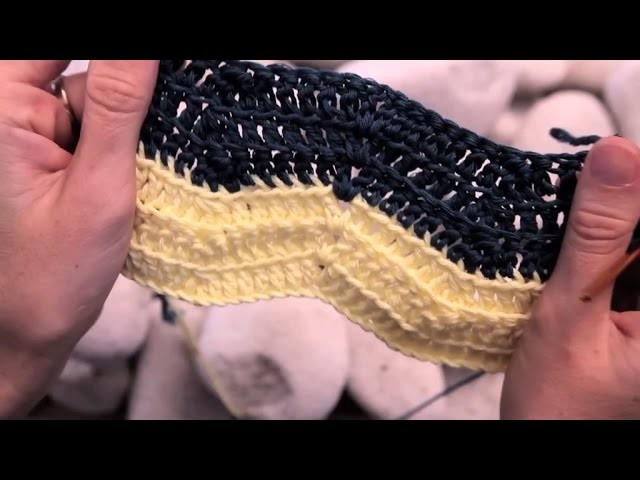 Cómo hacer el punto chevron en ganchillo (o punto zig zag) | How to crochet the chevron stitch