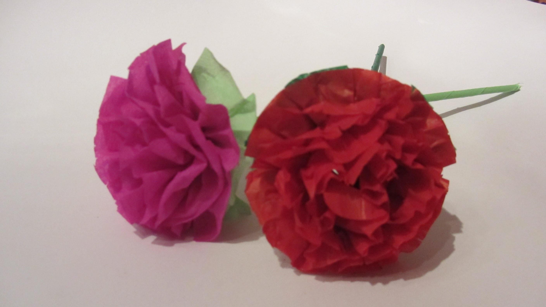 Cómo hacer flores de papel. Paper flowers.