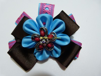 Como hacer flores en cinta, moños y accesorios para el cabello paso a paso