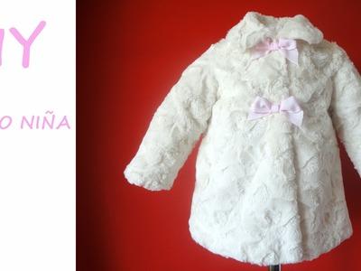 Como hacer un Abrigo de niña. Diy Girl coat with