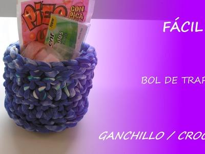 Cómo hacer un bol de trapillo - ganchillo. crochet - Fácil DIY