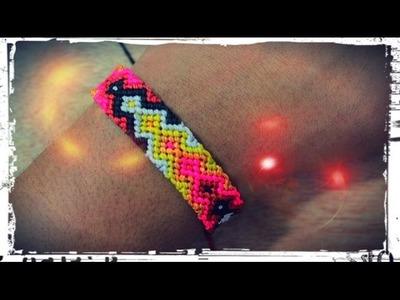 Como hacer una pulsera macrame con patron modelo flechas
