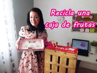 CÓMO RECICLAR UNA CAJA DE FRUTAS: conviértela en bandeja!!!