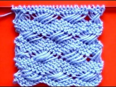 Cómo Tejer Punto Cruzado-Indian Cross Stitch 2 Agujas (228)