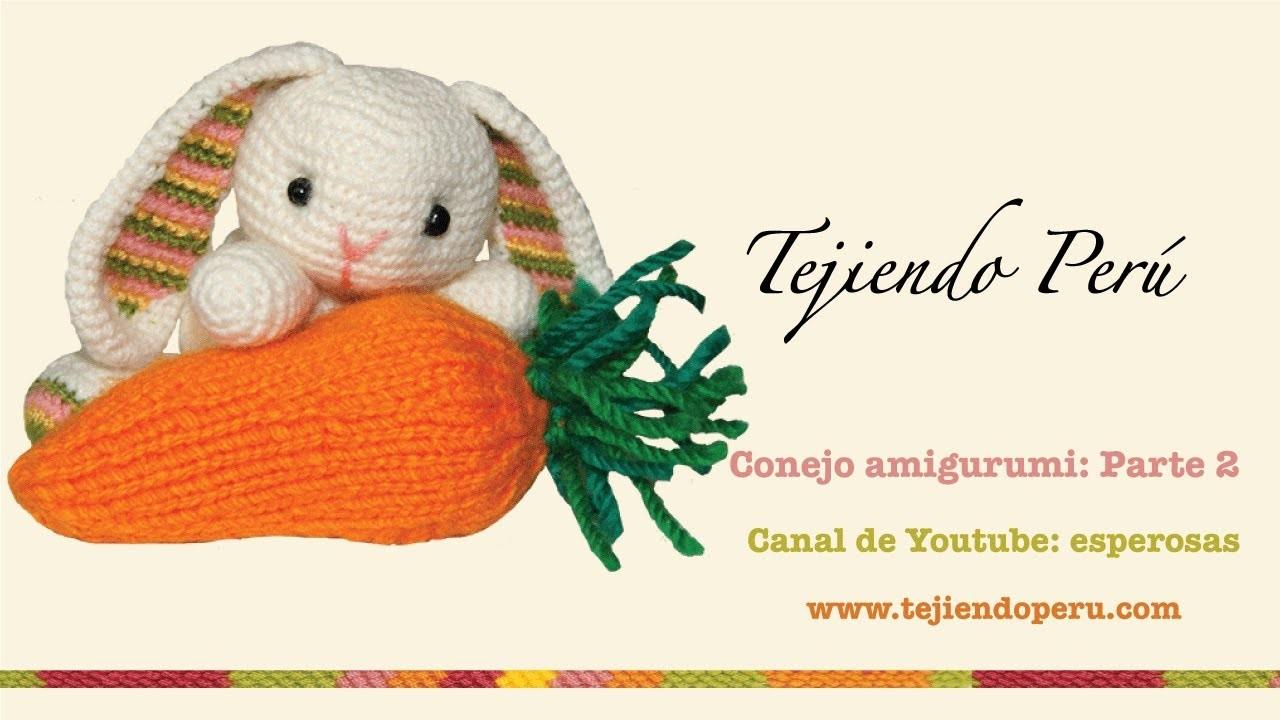Conejo amigurumi (Parte 2: tejiendo los brazos y la cola)