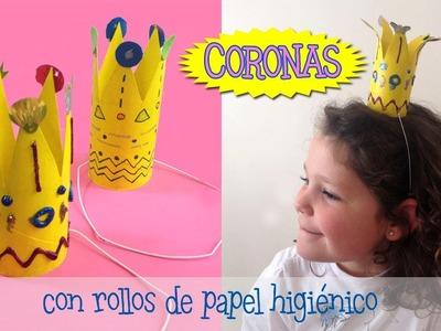 Coronas | Manualidades con rollos de papel higiénico para niños