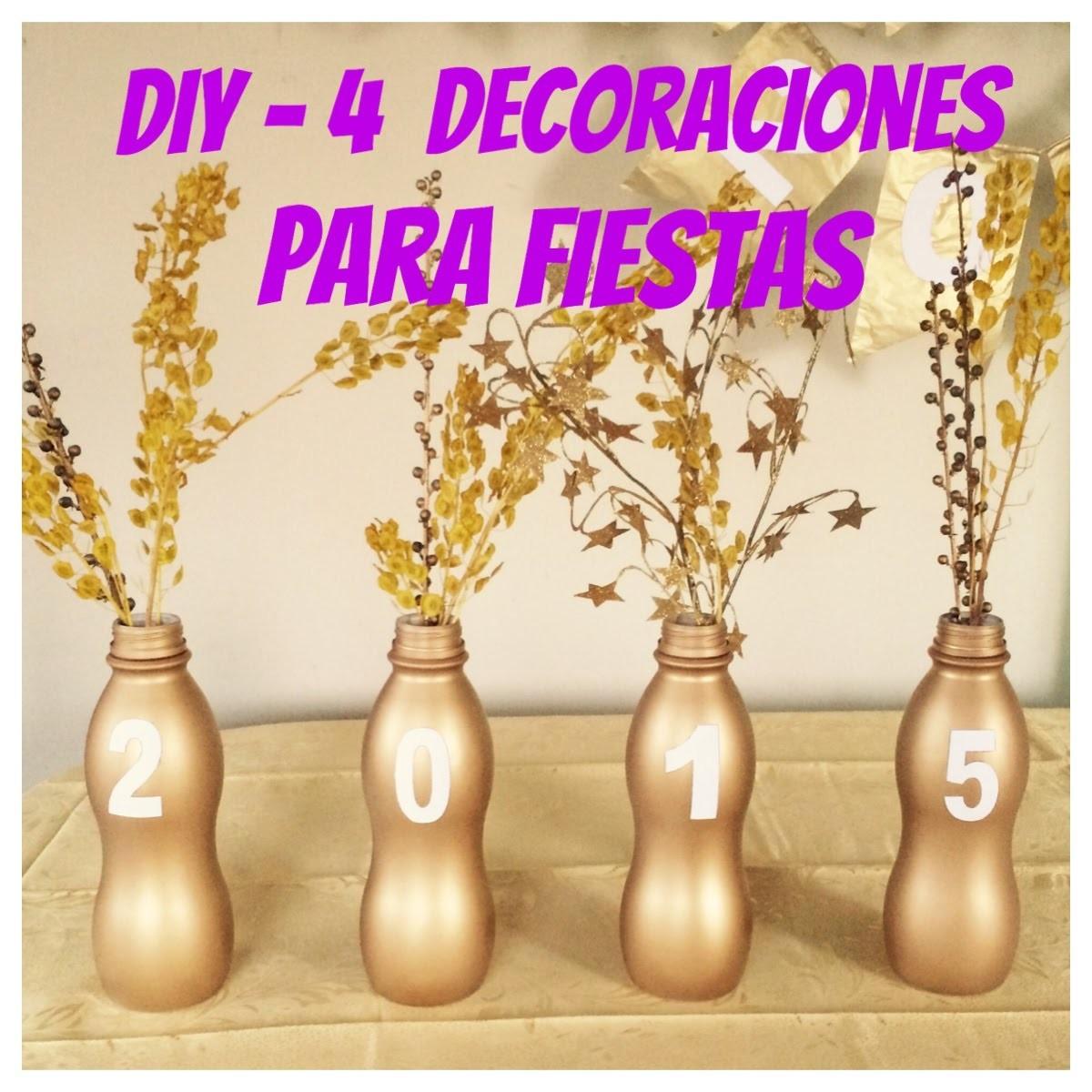 DIY- 4 Decoraciones para Fiesta de Año Nuevo - malir15