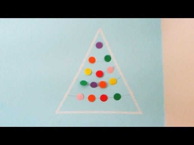 DIY ♥ Arbol navideño sencillo para decorar tu cuarto.