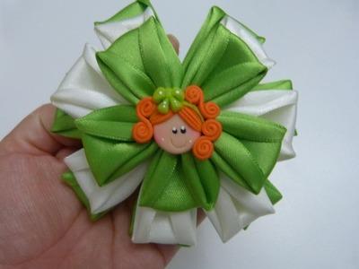 DIY: flores para el cabello paso a paso.ribbon bows in hair. Manualidades la hormiga