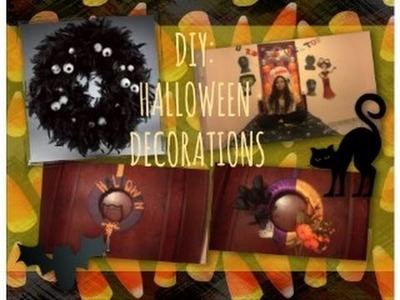 DIY Halloween decorations ( halloween wreaths). Decoración de Halloween (Coronas de Halloween)